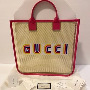 Authentic Gucci Amore Rainbow Vinyl Tote